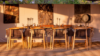 Okavango Hidden Gems - Okavango Delta - Botswana - Luxury Tented Safari Camp - Sunset - Dining Tent